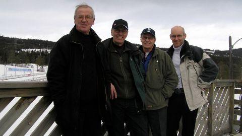 Teamet på skidstadion i Lillehammer