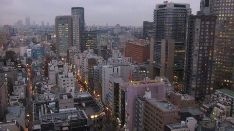 Utsikten från 23:e våningen på Hotel Grand Palace