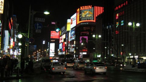 Storstaden Sapporo ny night