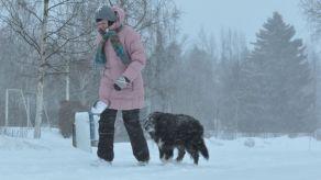 Hundväder vintern 2013.