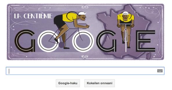 Sökmotorn Google uppmärksammar cykeltävlingen Tour de France