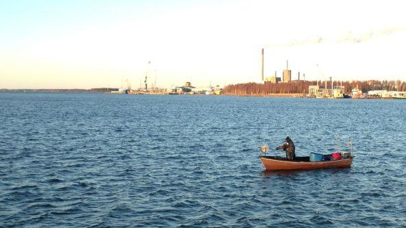 Vy från myrgrundsbanken 20 december 2013
