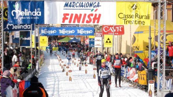 Marcialonga-upploppet i Cavalese. Året är 2012.