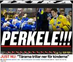 Aningen dystra rubriker i den svenska pressen efter matchen.