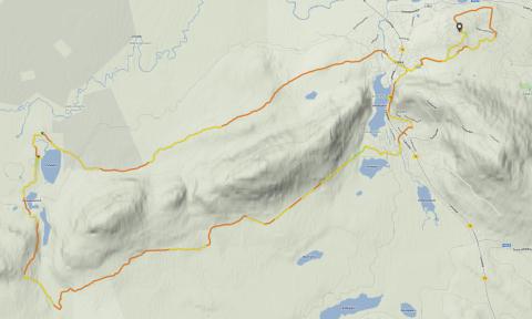 Pyhänkierros + Valorakka, ca 35 km.