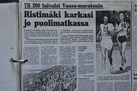Tidningsklipp ur Pohjalainen för 30 år sen.