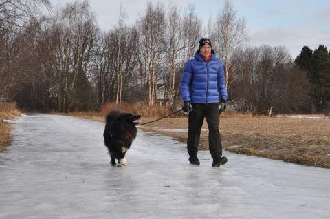Morgonpromenad i Smedsby 1 mars 2015.