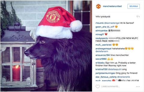 Ivar på ManU:s Instagram