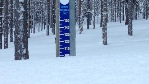 Snöläget i Levi den 15 februari 2016.