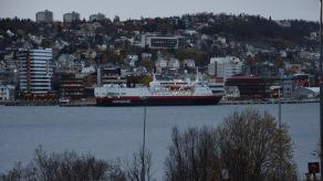 Hurtigruten lägger till i Tromsö
