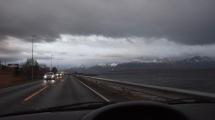 Regn i luften när jag åker hemåt