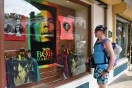 Bob Marley var synlig i gatubilden