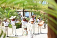 Typiskt mexikanskt musikuppträdande på Cozumel