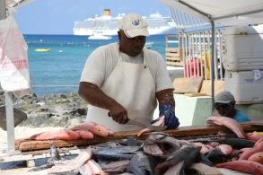 Fiskhandlare på Grand Cayman