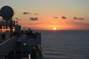 Solnedgång i Karibiska havet